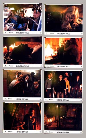 Pictured is a US lobby card set for the 2005 Jaume Collet-Serra film House of Wax starring Elisha Cuthbert.