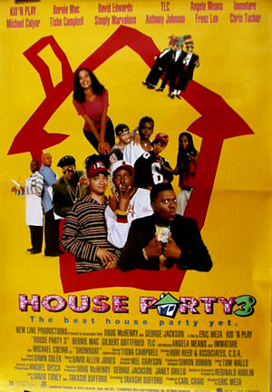 House Party 3 (Angela Means) - (1993) one-sheet R, EX $15 *