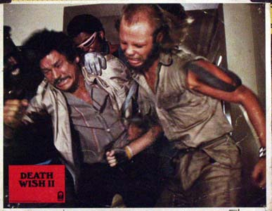 Pictured is a US promotional lobby card for the 1982 Michael Winner film Death Wish II starring Charles Bronson.