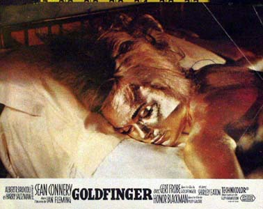 Pictured is a French color still for the 1964 Guy Hamilton film goldfinger starring Sean Connery.