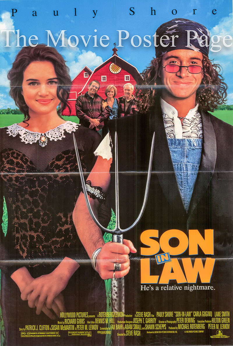Pictured is a US one-sheet promotional poster for the 1993 Steve Rash film Son in Law starring Pauly Shore.