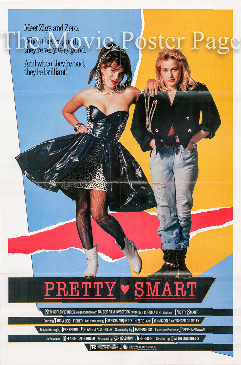 Pictured is a US one-sheet promotional poster for the 1987 Dimitri Logothetis film Pretty Smart starring Patricia Arquette.