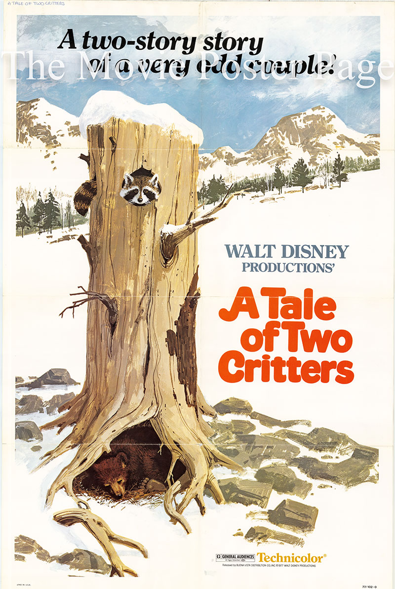 Pictured is a US promotional poster for the 1977 Jack Spiers film A Tale of Two Critters.
