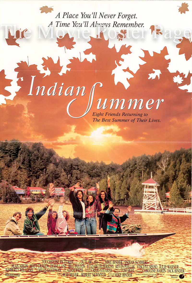 Pictured is a US one-sheet promotional poster for the 1993 Mike Binder film Indian Summer starring Alan Arkin.