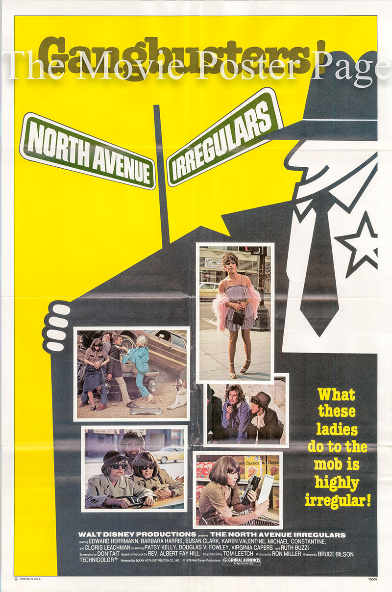 Pictured is a US promotional one-sheet poster for the 1979 Bruce Bilson film The North Avenue Irregulars, starring, Edward Hermann.