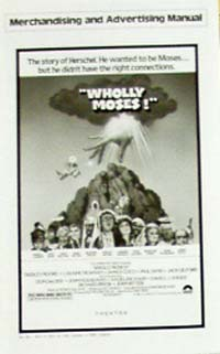 Pictured is a promotional press book for the 1980 Gary Weis film Wholly Moses, starring Dudley Moore.
