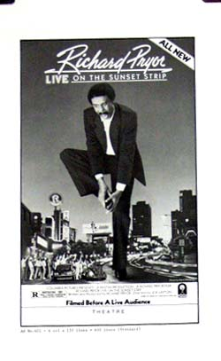 Pictured is a US promotional press book for the 1982 Joe Layton film Richard Pryor Live on the Sunset Strip starring Richard Pryor.