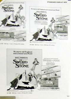 Pictured is a US promotional press book for the 1983 rerelease films Sword in the Stone and Winnie the Pooh and a Day for Eeyore.