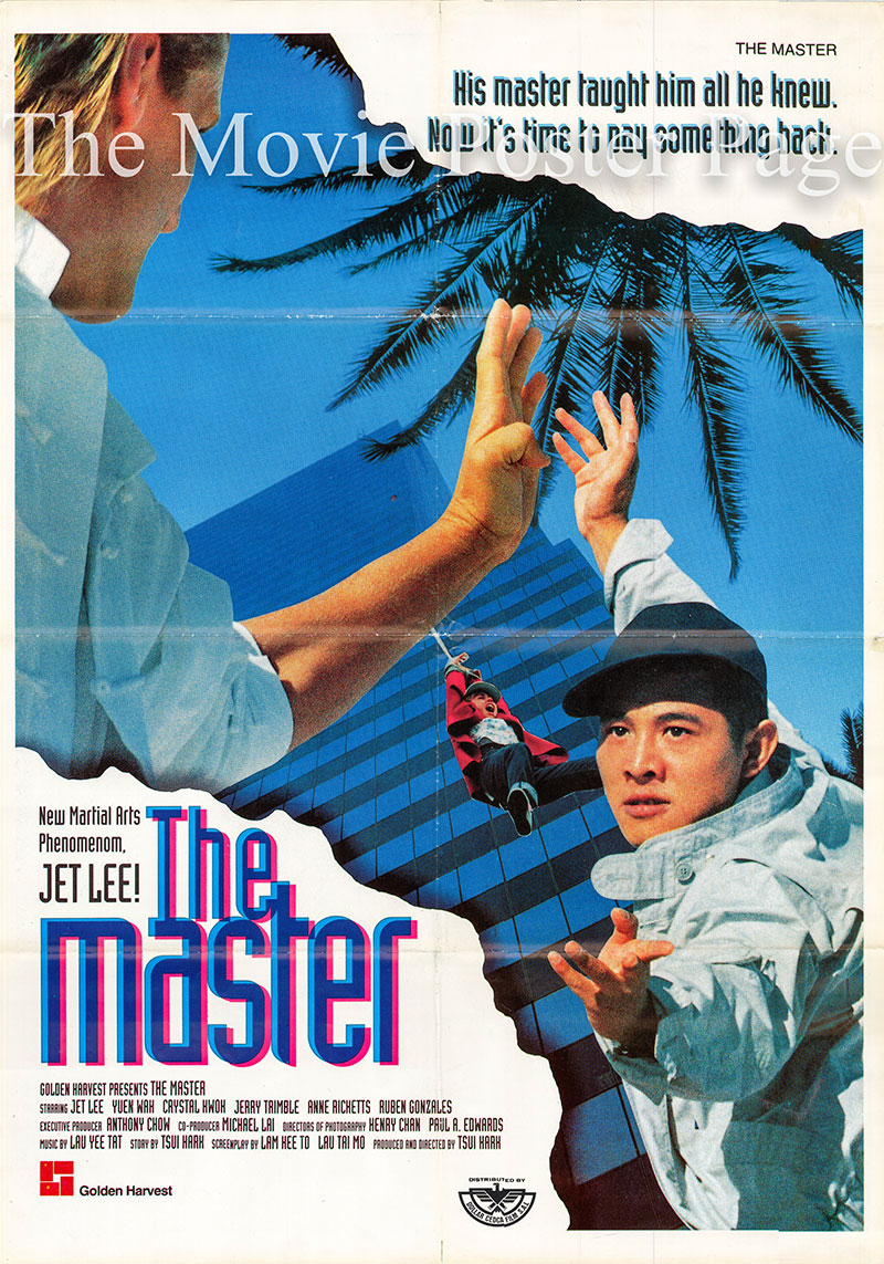 Pictured is a Lebanese promotional poster for the 1989 Hark Tsui film The Master starring Jet Li.