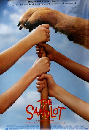 Pictured is a US promotional poster forthe 1993 David M. Evans film The Sandlot, starring Tom Guiry.