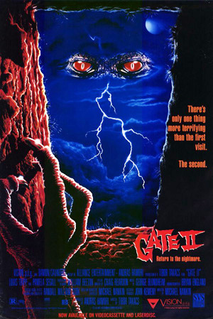Pictured is a US one-sheet promotional poster for the 1990 Tibor Takcs film Gate II starring Louis Tripp.