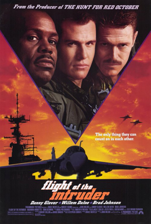 Pictured is a US one-sheet promotional poster for the 1991 John Milius film Flight of the Intruder starring Danny Glover.