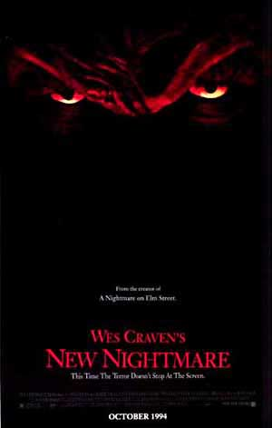 Pictured is a US one-sheet promotional poster for the 1994 Wes Craven film New Nightmare starring Hather Langenkamp.
