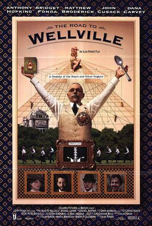 Pictured is a US one-sheet promotional poster for the 1994 Alan Parker film The Road to Wellville starring Anthony Hopkins.