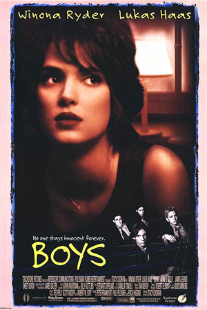 Pictured is an US promotional poster for the 1996 Stacy Cochran film Boys starring Winona Ryder.