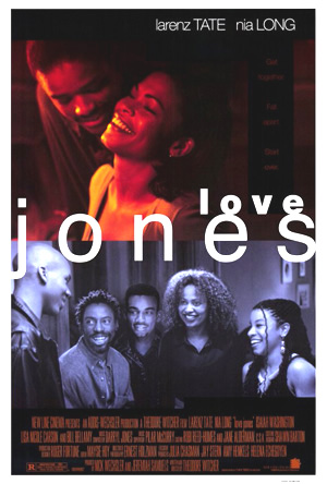 Pictured is an US one-sheet promotional poster for the 1997 Theodore Witcher film Love Jones starring Larenz Tate.