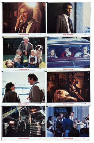 Pictured is a US promotional lobby card set for the 1984 Richard Tuggle film Tightrope starring Clint Eastwood.