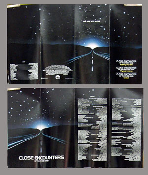 Pictured is a US promotional program for the 1977 Steven Spielberg film Close Encounters of the Third Kind starring Richard Dreyfuss.