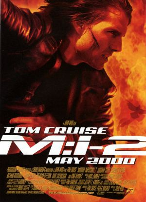 Pictured is a US one-sheet promotional poster for the 2000 John Woo film Mission Impossible II starring Tom Cruise.