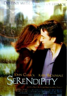 Pictured is a US promotional poster from the 2001 Peter Chelsom film Serendipity starring John Cusack and Kate Beckinsdale.