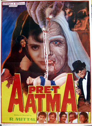 Pictured is an Indian one-sheet promotional poster for the 1997 Rajesh Mittal film Pret Aatma starring Anil Dhawan.