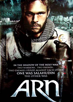 Pictured is a US promotional banner for the 2007 Peter Flinth film Arn starring Joakim Nattergvist.