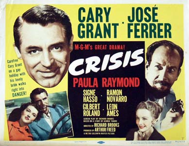 Pictured is a US title card for the 1950 Richard Brooks film starring Cary Grant and Jose Ferrer.
