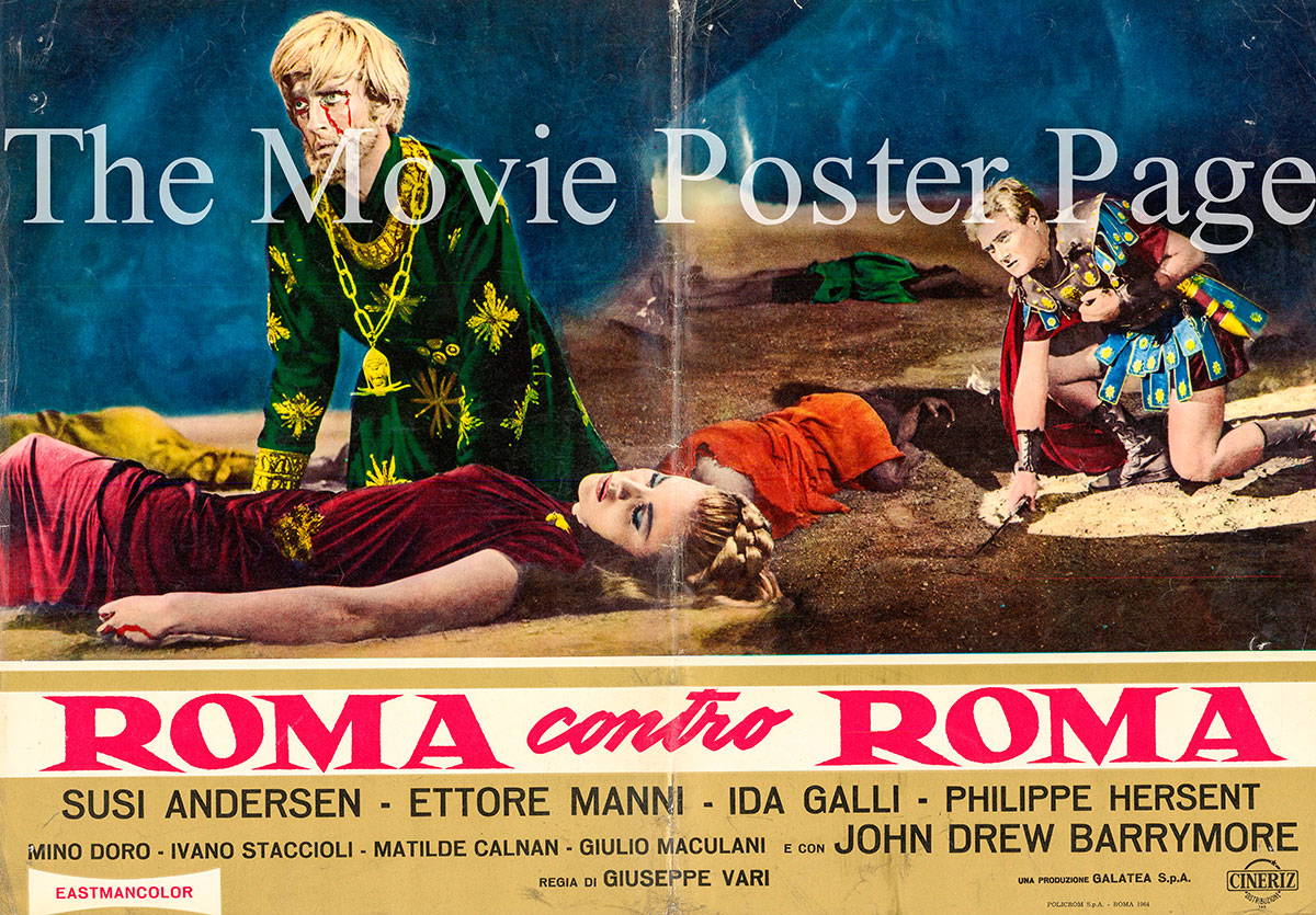 Movie Poster Collecting Rome against Rome 1964 John Drew