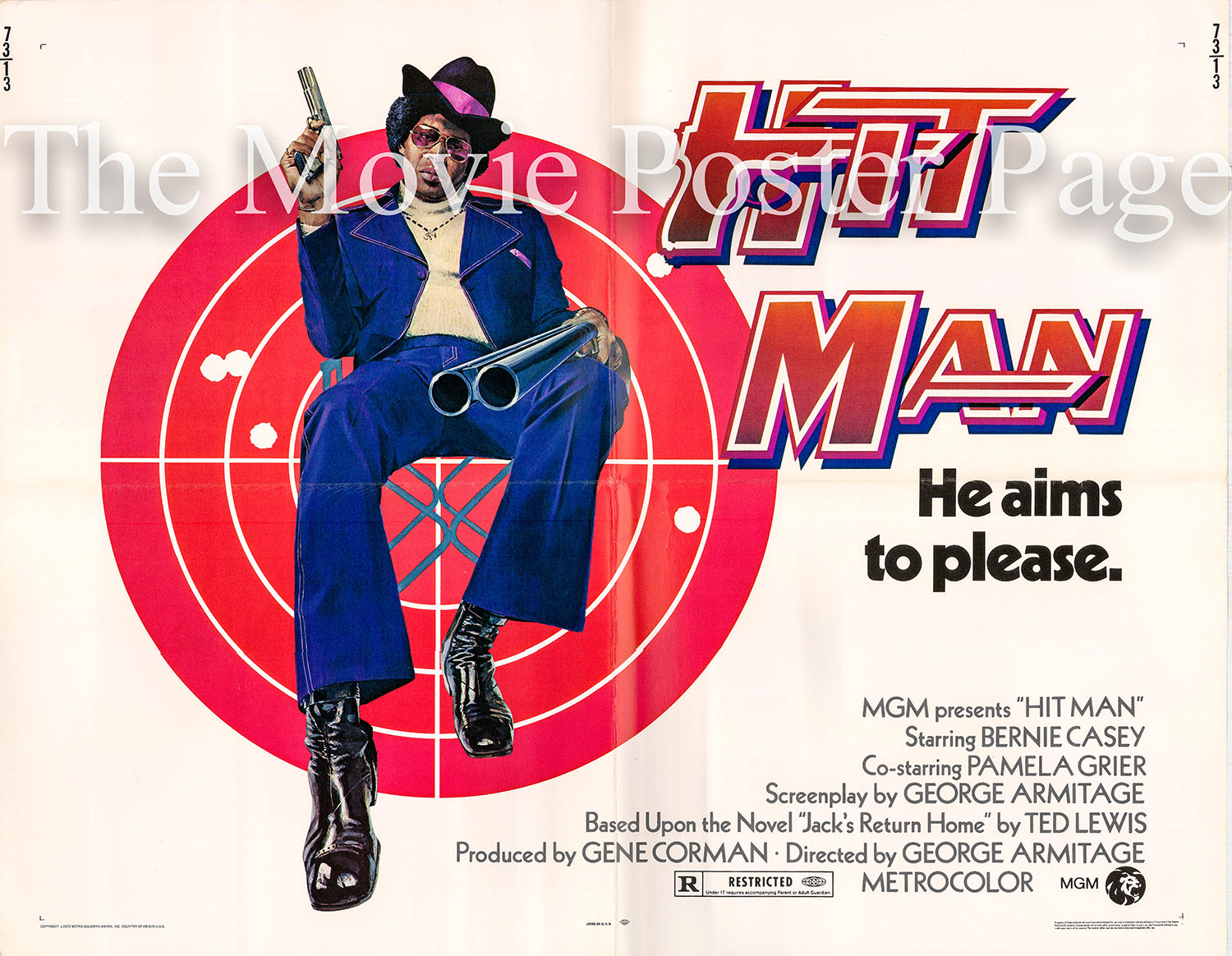 Pictured is a US promotional half sheet for the 1973 George Armitage film Hit Man starring Bernie Casey.