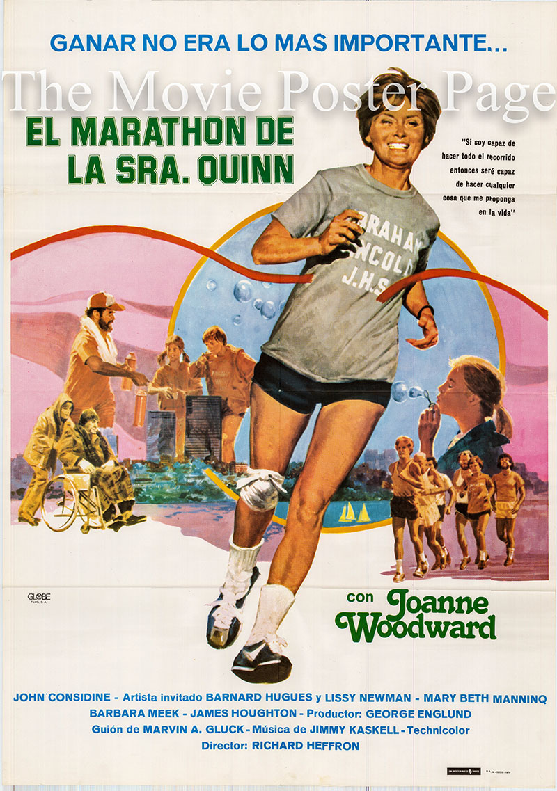Pictured is a Spanish one-sheet poster for the 1978 Richard T. Heffron film See How She Runs starring Joanne Woodward as Betty Quinn.