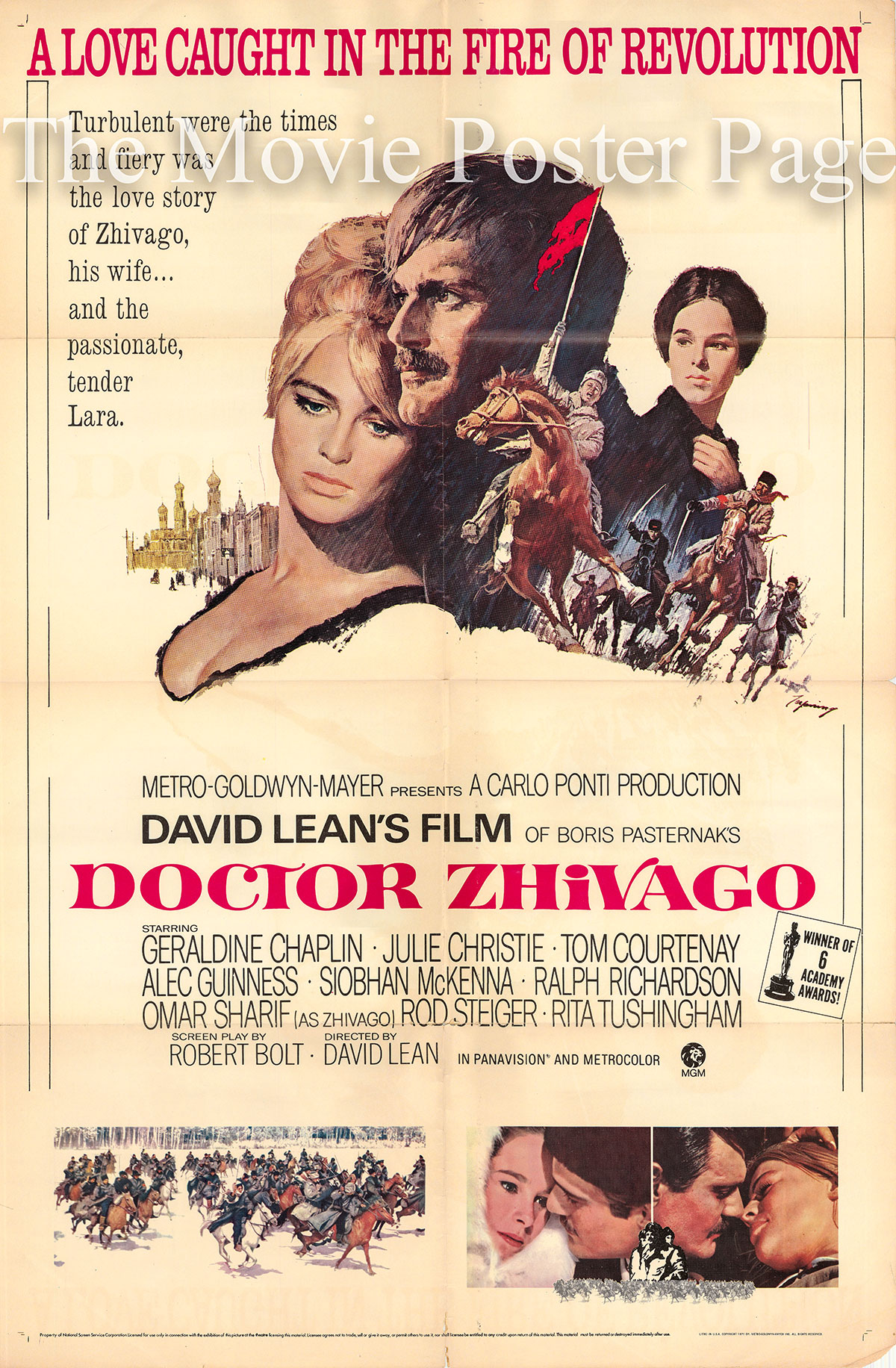 Pictured is a US one-sheet promotional poster for the 1971 rerelease of the 1965 David Lean film Doctor Zhivago starring Omar Sharif.