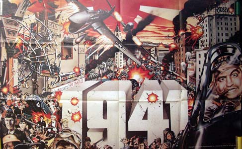 Pictured is a US 30x48 promotional poster for the 1979 Steven Spielberg film 1941 starring Dan Aykroyd.
