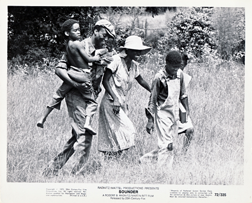 Pictured is a US promotional black-and-white still for the 1972 Martin Ritt film Sounder starring Cicely Tyson.