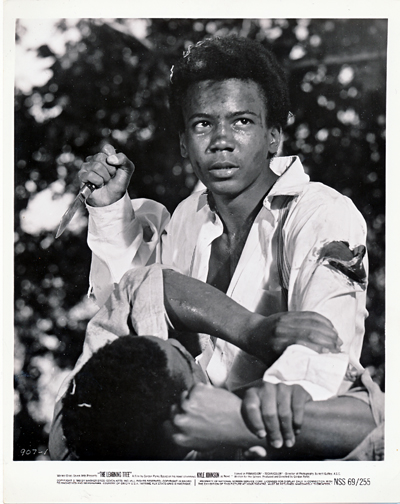 Pictured is a US promotional still photo from the 1969 Gordon Parks film The Learning Tree starring Kyle Johnson.