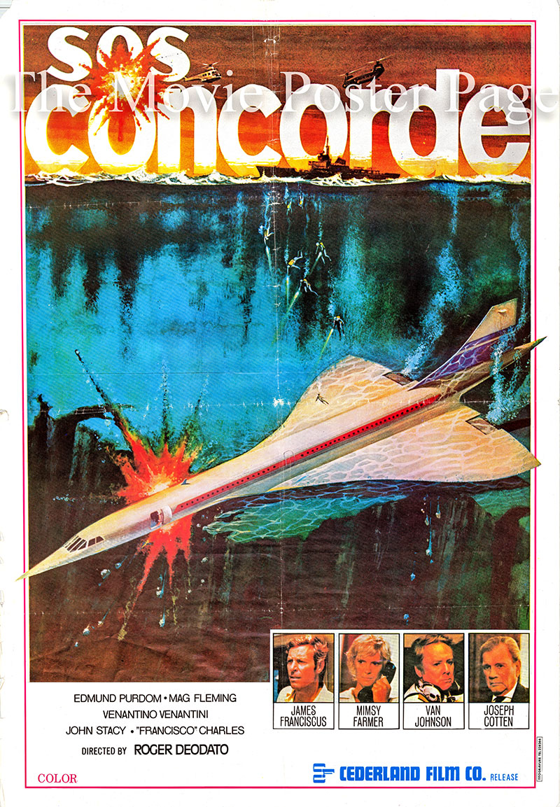 Pictured is a Lebanese  one-sheet promotional poster for the 1979 Ruggero Deodato film Concorde Affaire '79 starring James Franciscus.
