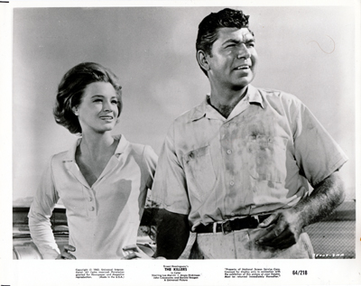 Pictured is a US promotional still photo from the 1964 Don Siegel film The Killers starring Lee Marvin.