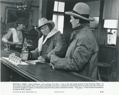 Pictured is a US promotional still photo from the 1980 William Wiard film Tom Horn starring Steve McQueen.