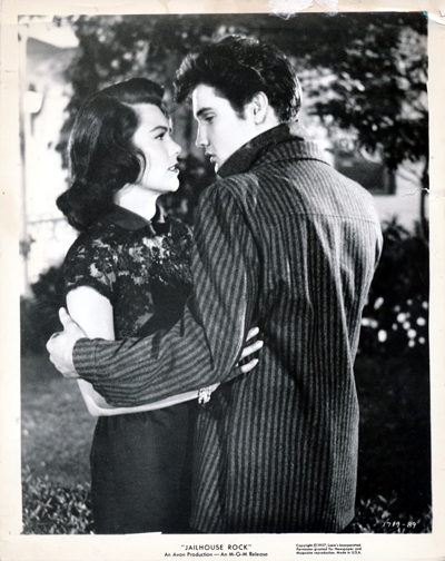 Pictured is a US promotional still photo from the 1957 Richard Thorpe film Jailhouse Rock starring Elvis Presley.
