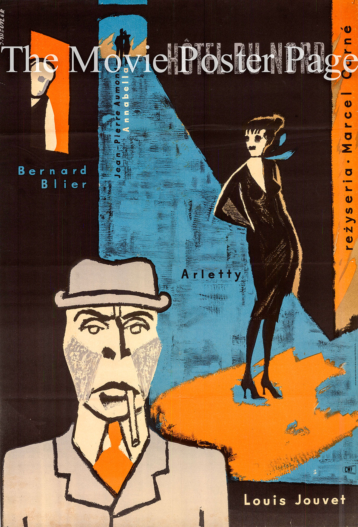 Pictured is a Polish poster designed to promote the 1938 Marcel Carné film Hotel du Nord starring Annabella
