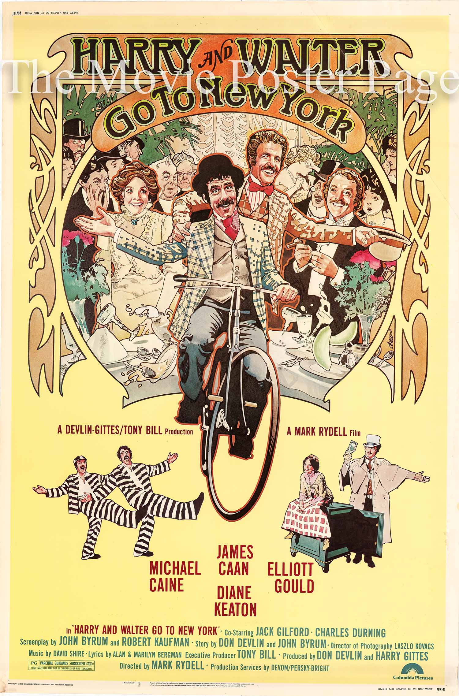 Pictured is a US 40x60 promotional poster for the 1976 Mark Rydell film Harry and Walter Go to New York starring James Caan.