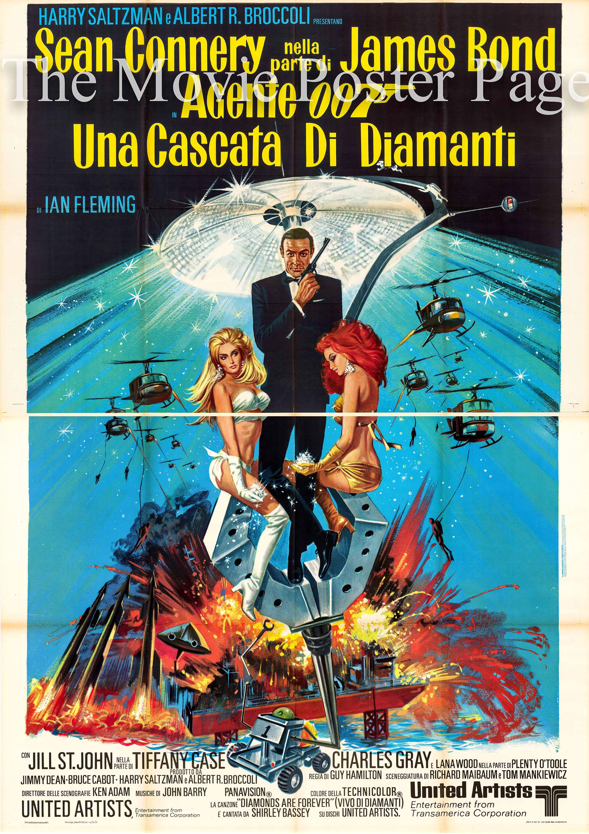 Pictured here is an Italian 4-sheet poster made to promote the 1971 Guy Hamilton film Diamonds are Forever starring Sean Connery.