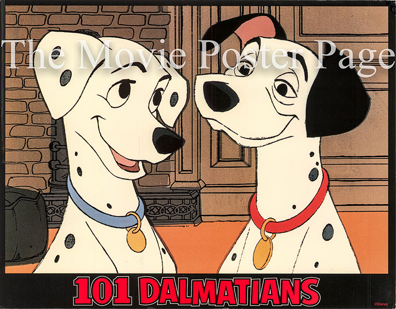 Pictured is a US lobby card set for a 1969 rerelease of the 1961 Clyde Geronimi and Hamilton Luske film 101 Dalmatians starring Rod Taylor as the voice of Pongo.