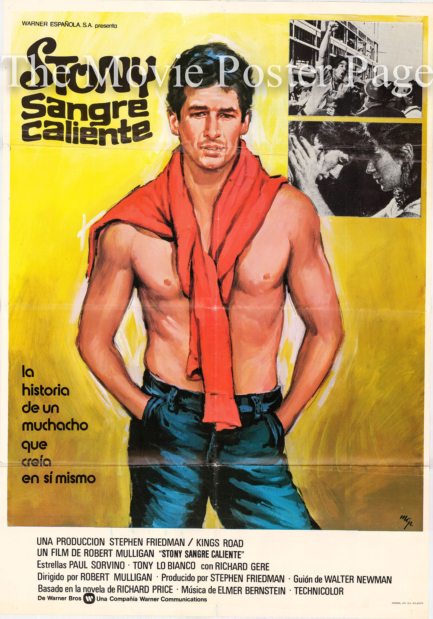 Pictured is a Spanish one-sheet poster for the 1978 Robert Mulligan film Bloodbrothers starring Richard Geere as Stony De Coco.