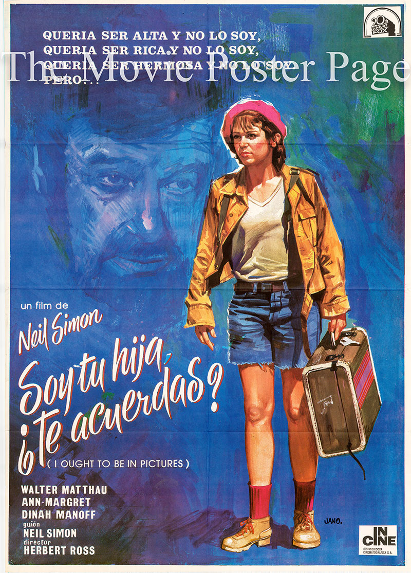 Pictured is a Spanish one-sheet poster for the 1982 Herbert Ross film I Ought To Be in Pictures starring Walter Matthau.