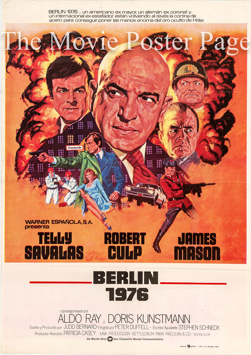 Pictured is a Spanish one-sheet poster for the 1975 Peter Duffell film Inside Out starring Telly Savalas as Harry Morgan.