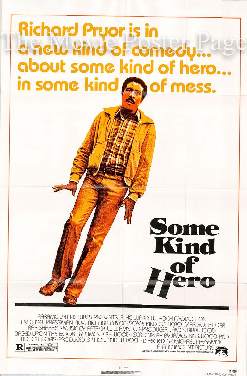 Pictured is a US one-sheet poster for the 1982 Michael Pressman film Some Kind of Hero starring Richard Pryor as Eddie Keller.