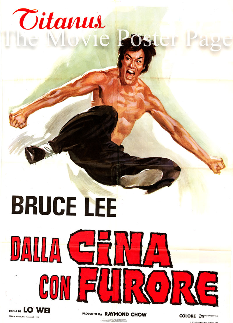 Pictured is an Italian two-sheet poster for a 1973 rerelease of the 1972 Wei Lo film Fist of Fury starring Bruce Lee as Chen Zhen.