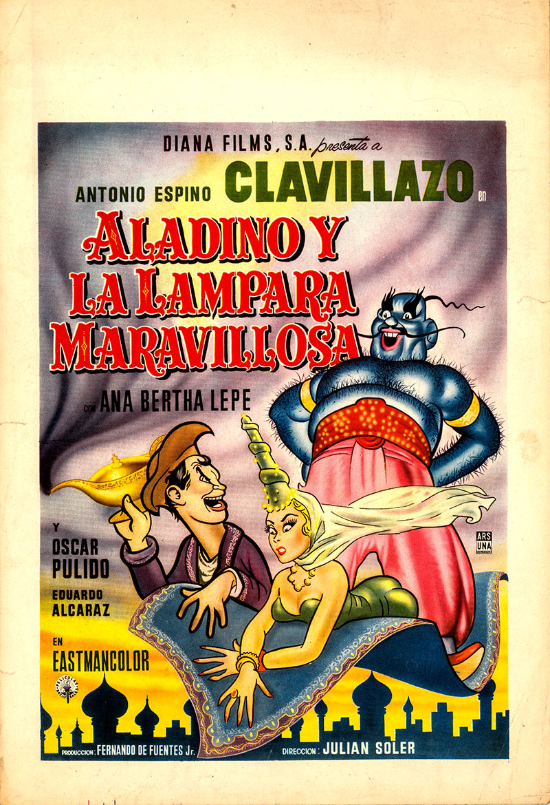 Pictured is a Mexican window card for the film starring Manuel Lozano.