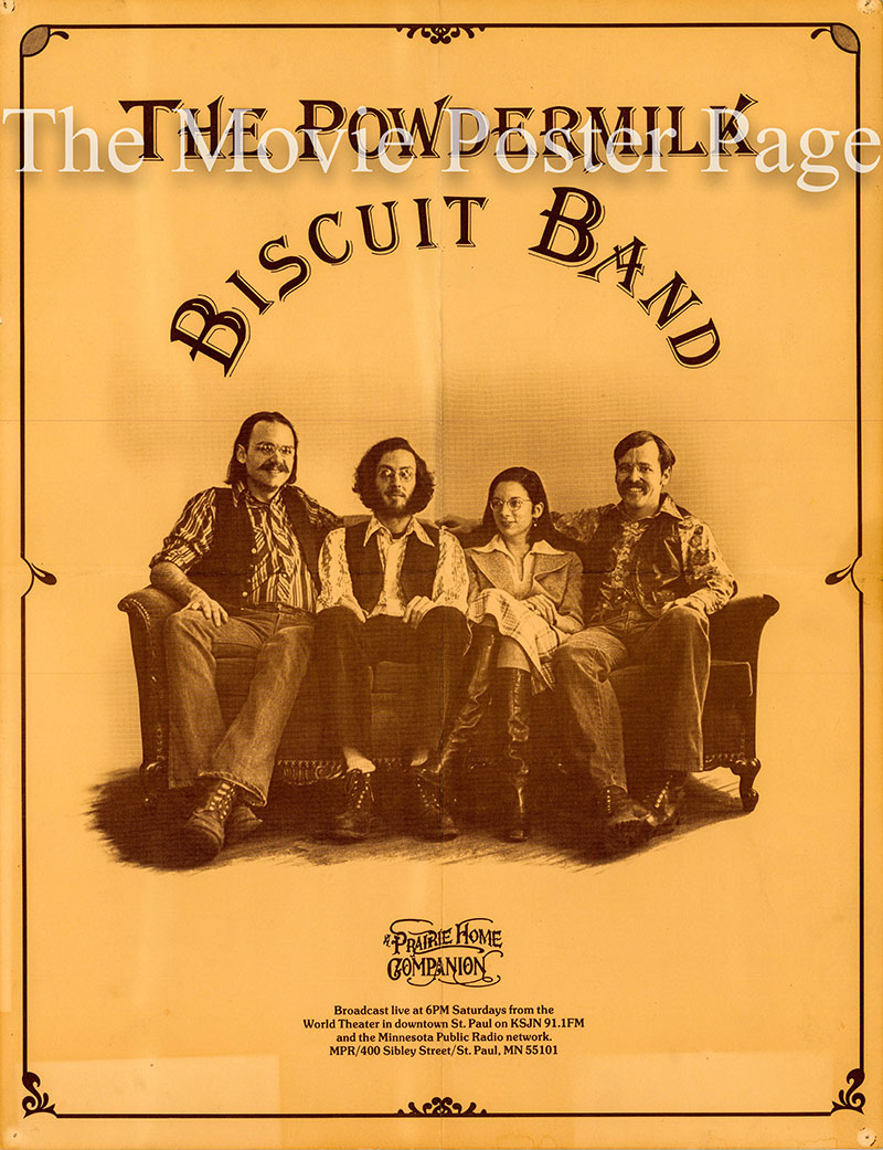 Pictured is an original 1978 Minnesota Public Radio promotional poster for Prairie Home Companion house band, the Powdermilk Biscuit Bant.