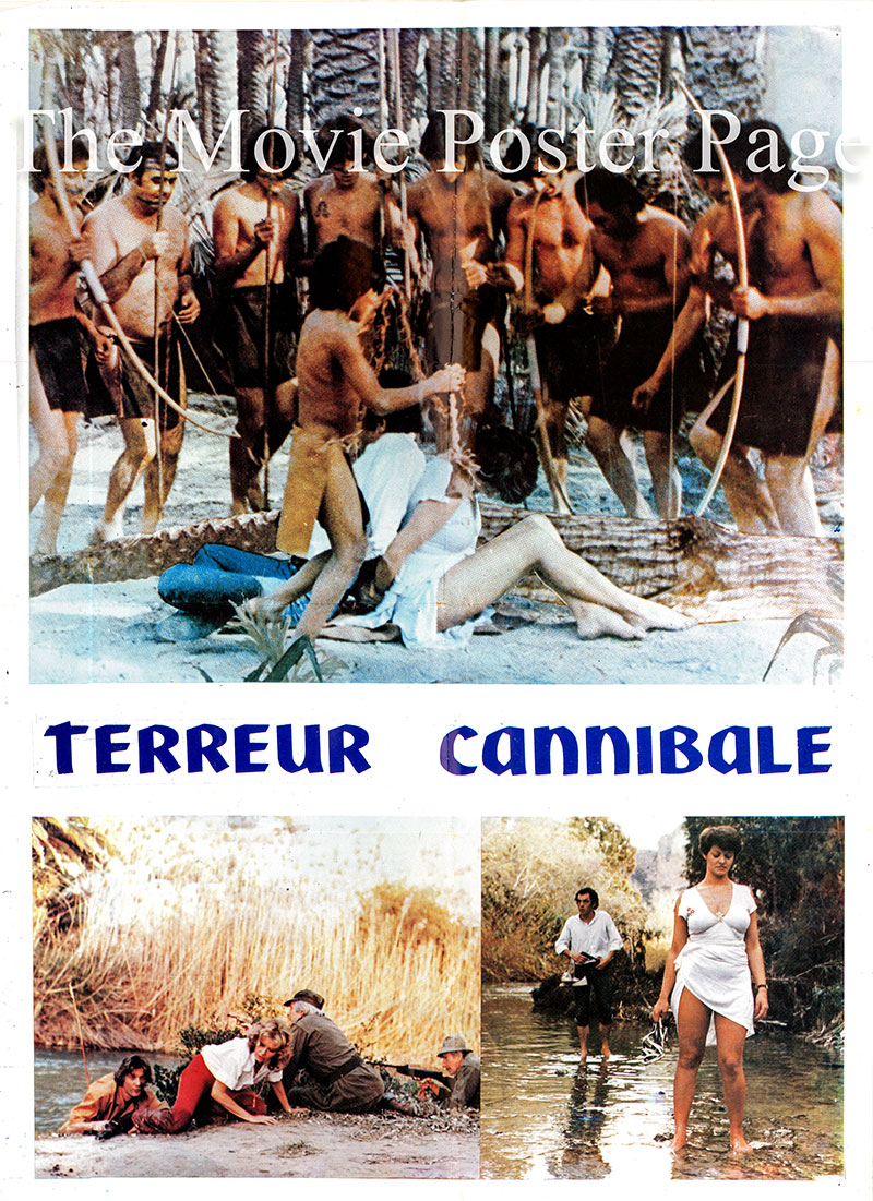 Pictured is a French medium promotional poster for the 1980 Alain Deruelle film <i>Cannibal Terror</i> starring Silvia Solar as Madame Danville.